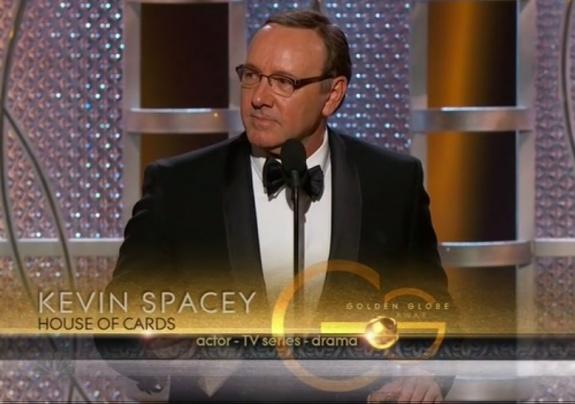 Кевин Спейси получил Золотой глобус за лучшую мужскую роль в драматическом сериале