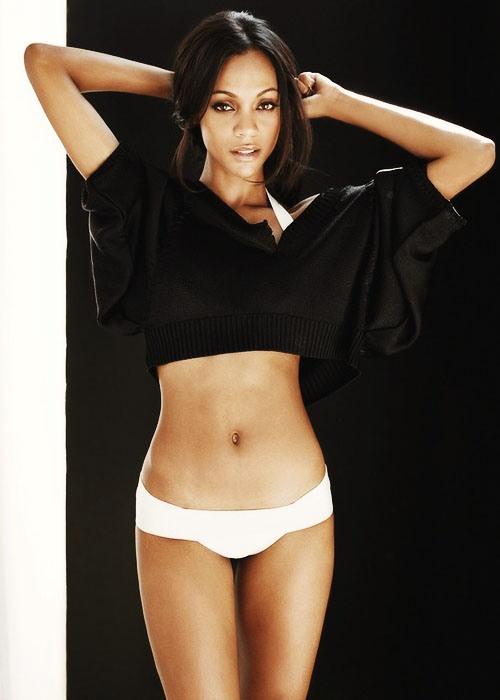 Зои Салдана фото белье Zoe Saldana photo underwear