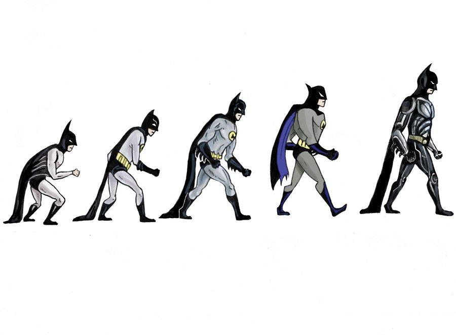 Эволюция Бэтмена комикс