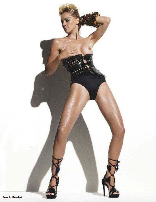 Шэрон Стоун фото голая грудь Sharon Stone photo топлесс