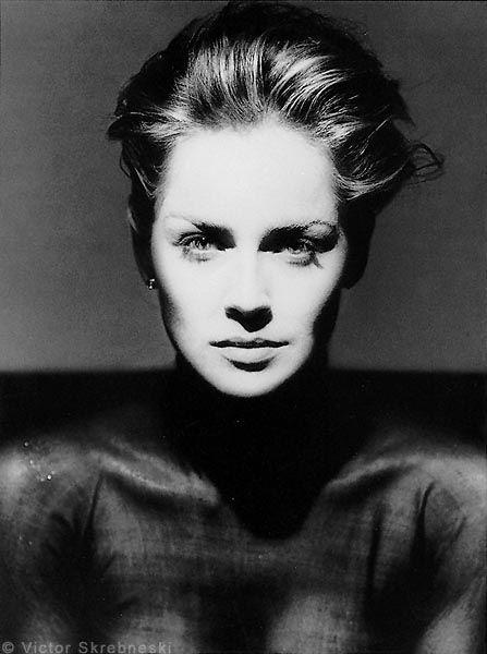 Шэрон Стоун фото черно-белое Sharon Stone photo black and white