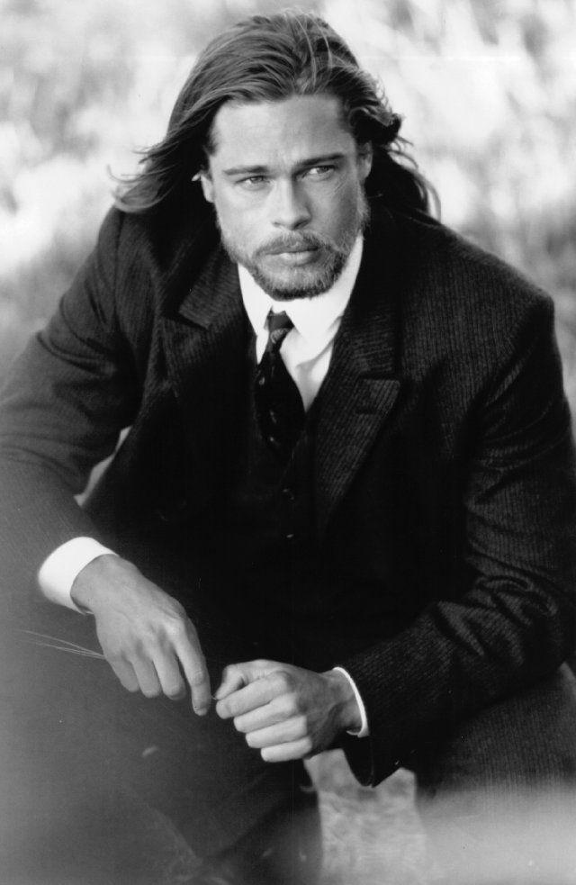 Брэд Питт фото длинные волосы Brad Pitt photo Fight long hair