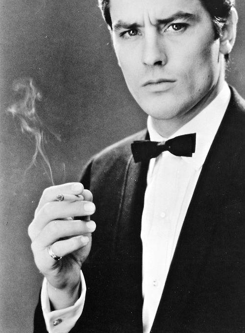 Ален Делон фото сигарета  Alain Delon photo cigarette