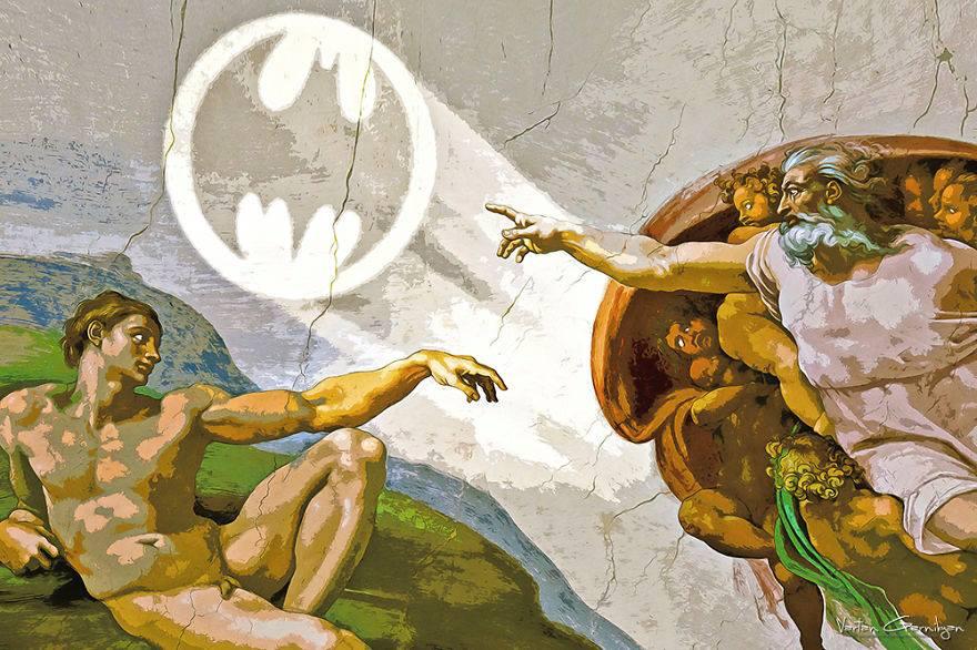 Классические картины Бэтмен знак