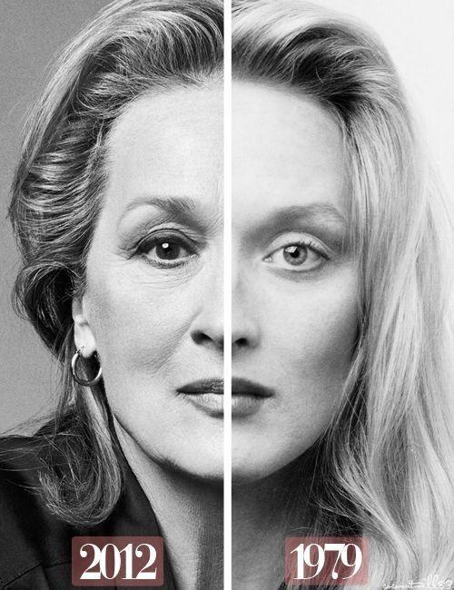 Мерил Стрип фото с разницей в 33 года Meryl Strip photo 33 years ago