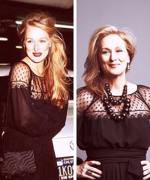 Мерил Стрип фото тогда и сейчас Meryl Strip photo then and now
