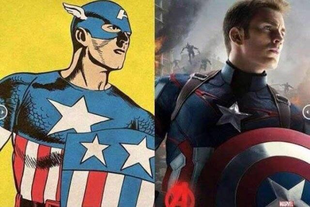 Мстители в комиксах и в фильме Капитан Америка
