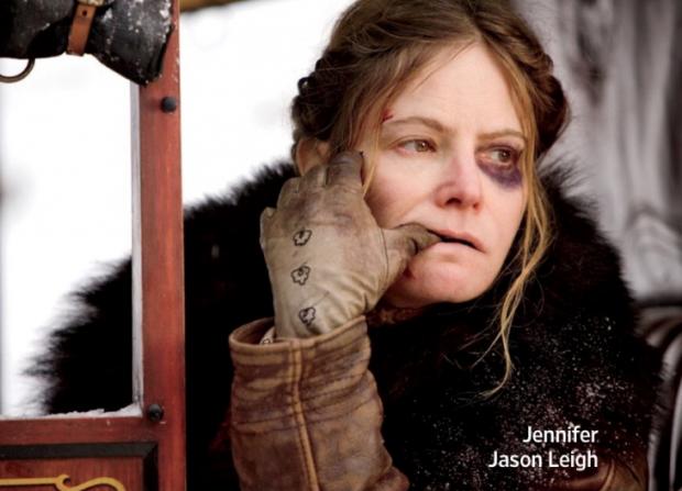 Омерзительная восьмерка Тарантино первые фото Дженнифер Джейсон Ли