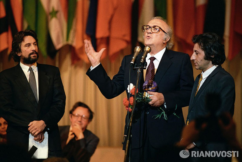 Роберт Де Ниро и Федерико Феллини в СССР