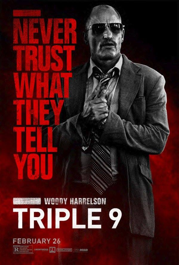 """Постеры фильма """"Три девятки"""" Triple 9"""