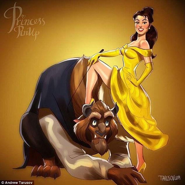 Дисней принцессы пин-ап Disney princess pin-up
