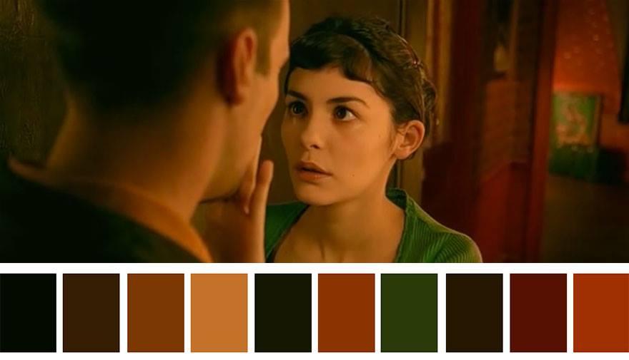 Цветовые палитры фильмов Амели