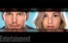 """""""Пассажиры"""": первые кадры с Дженнифер Лоуренс и Крисом Праттом"""