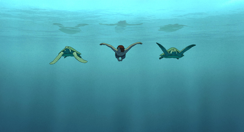 красная черепаха кадр 5