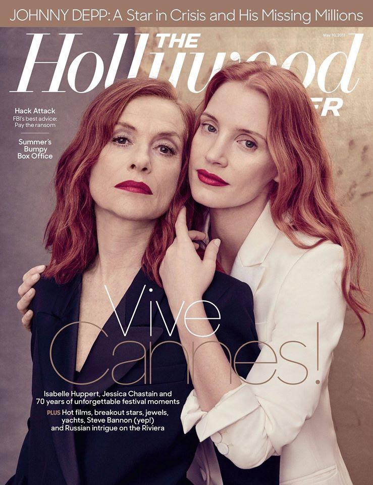 Джессика Честейн и Изабель Юппер в фотосессии для The Hollywood Reporter